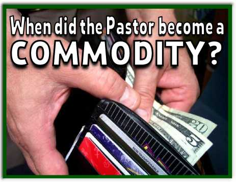 pastor becomes a commodity